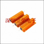 供应100W16Ω绕线铝壳电阻 RX24铝壳电阻 100W16R 金色铝壳电阻 功率电阻