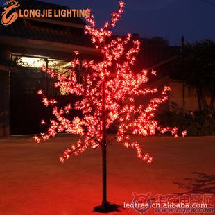 8米 led桃花树灯,樱花树,发光树《红蓝同