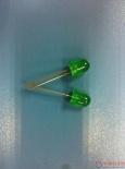 供应8MM绿发普绿超亮直插发光二极管 8MM圆头有边长脚散光