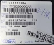供应DSB221SDA 26.000MHzTCXO晶振 KDS原装现货供应 可看货