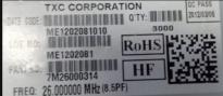 供应7M26000314 26MHZ 8.5PN2B048 原装现货供应 可看货