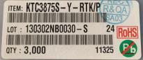 供应KTC3875S-Y-RTK/PKTC3875S-Y-RTK/P