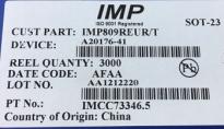 供应IMP809REUR/PIMP809REUR/P