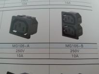 供应MG105-A(插座黑色)插座MG105-A,品质第一,厂家直销!!!