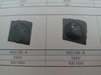 供应MG108-A(插座黑色)插座MG108-A,品质第一,厂家直销!!!