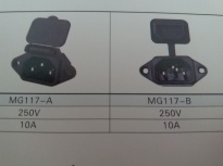 供应MG117-A(插座黑色)插座MG117-A,品质第一厂家直销!!!