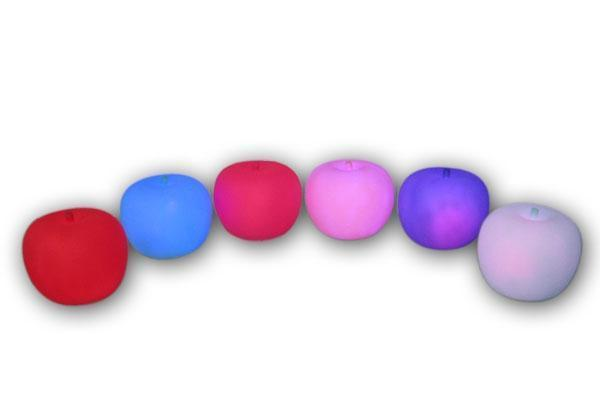 苹果七彩灯 发光玩具 灯罩 闪光灯 塑料灯 装饰品