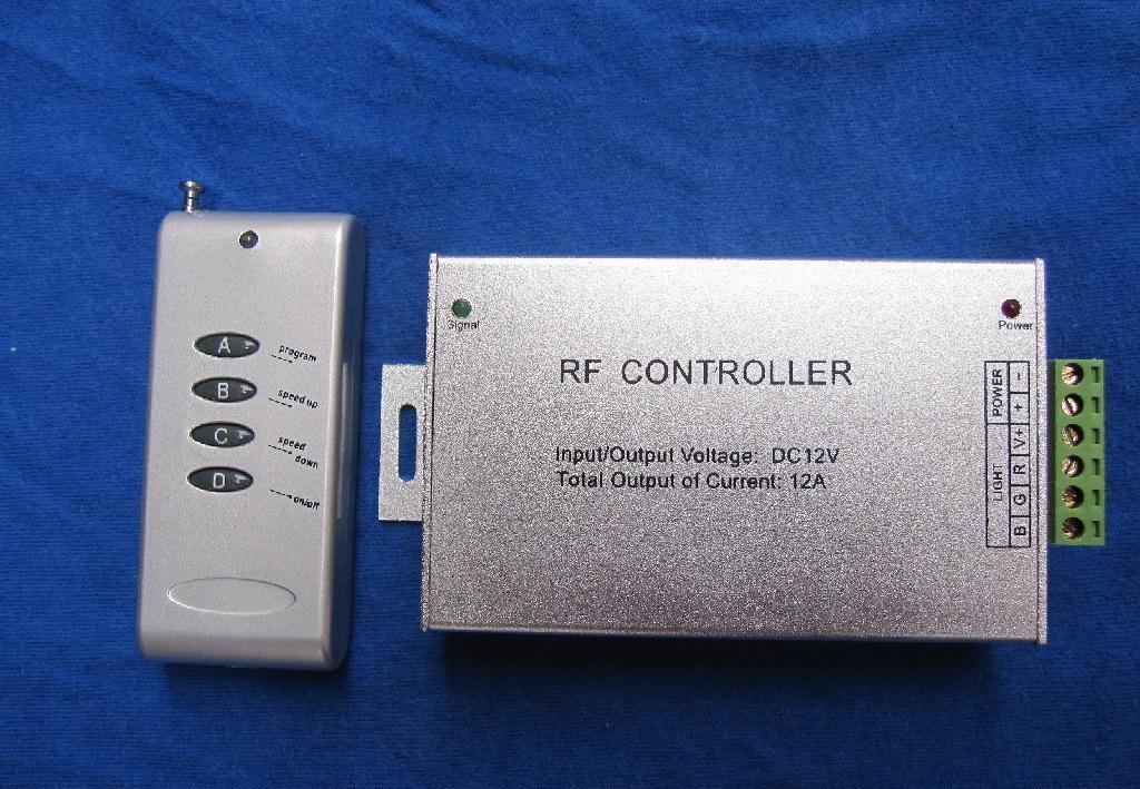 供应led控制器 无线4键铝外壳遥控控制器