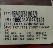 供应MSP430F5419IPZR  @@@深圳原装现货低价售