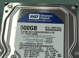 全新正品 西数500G台式机硬盘 3.5寸 串口图片