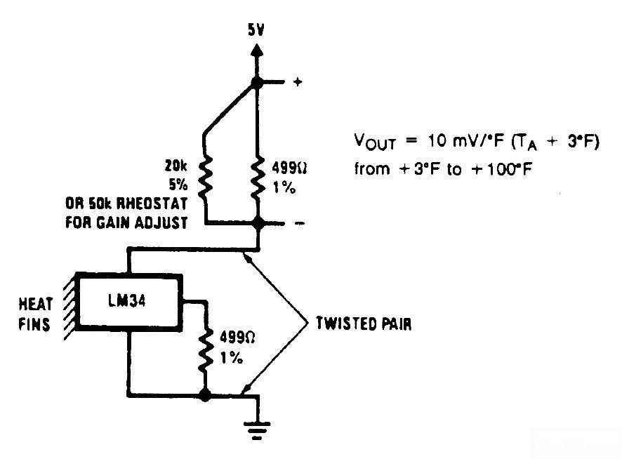 控温度传感器电路图