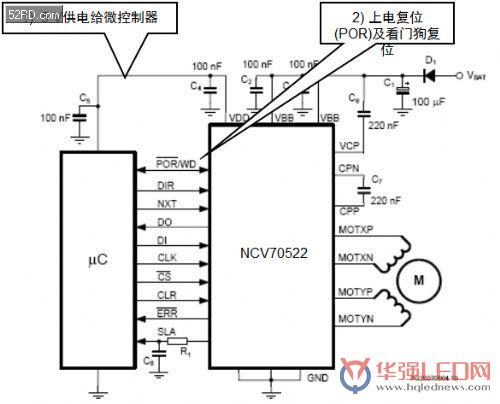 用于汽车自适应前照灯系统的电机驱动方案及应用设计