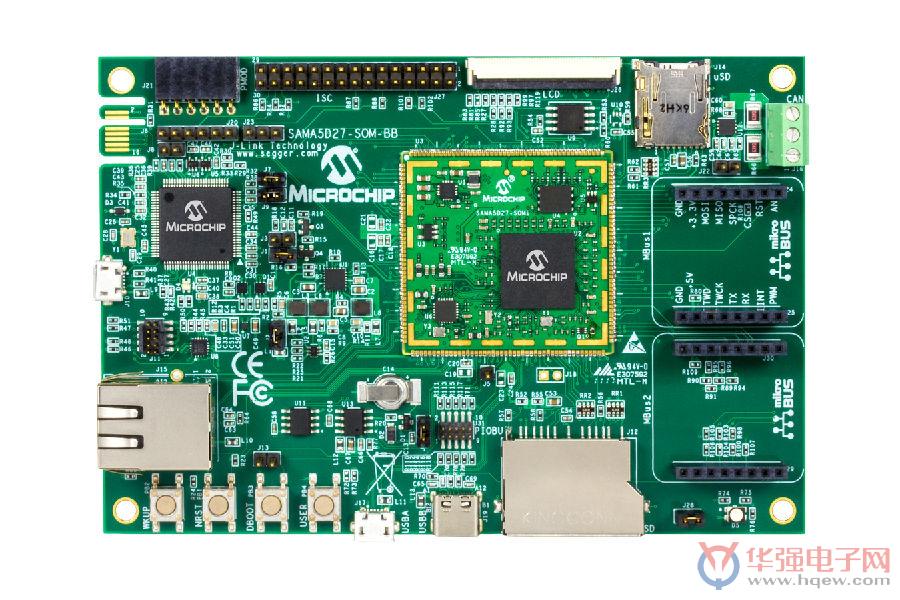 Microchip通过基工业级模块于SAMA5D2_MPU的体系模块简