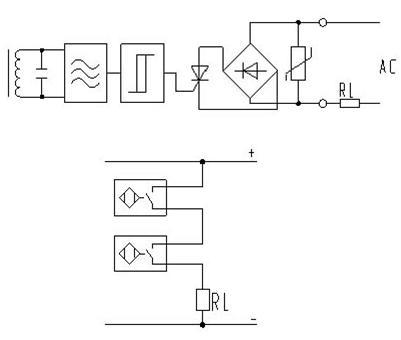 [图]光电开关传感器双线交流原理图及接线图