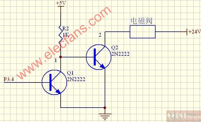 电磁阀驱动电路图 (24v)图片