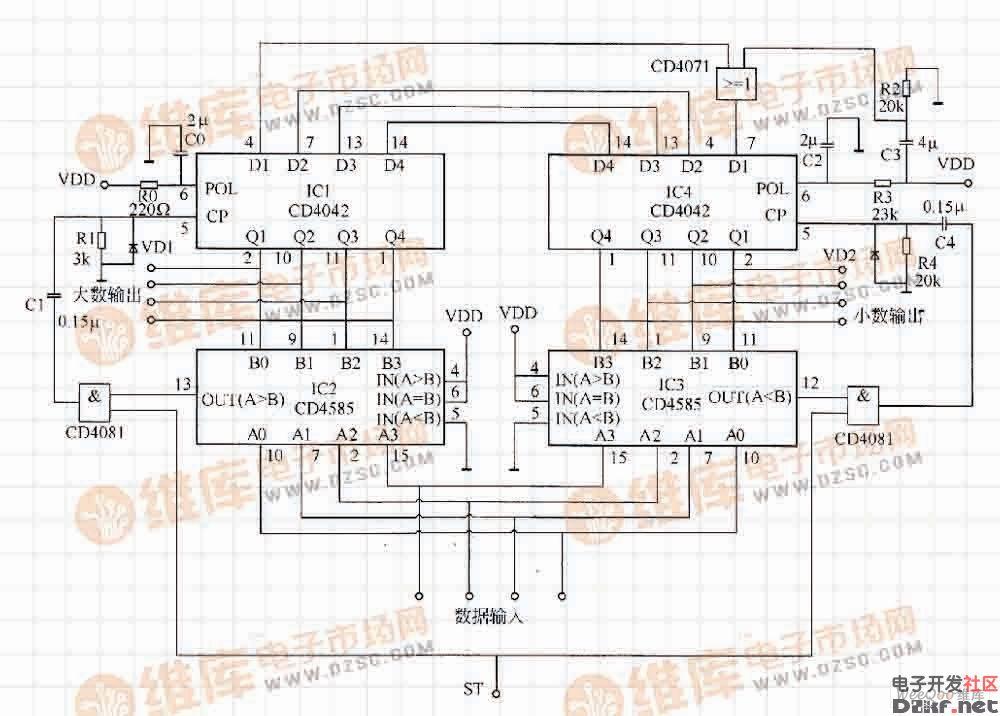 icl7106电路连接图