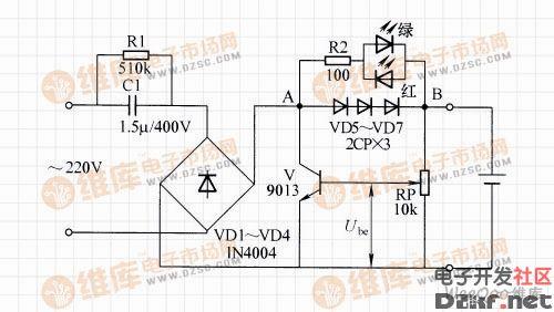 镍镉电池自动充电器电路图(一)