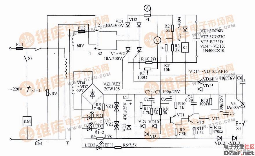 自动恒温充电器电路图图片