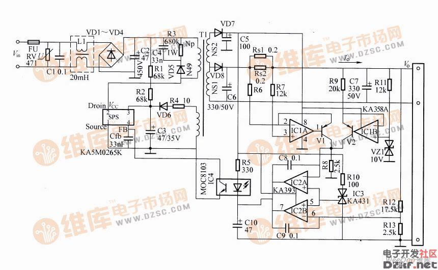 恒流恒压恒定功率充电器电路图