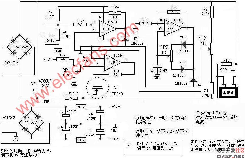 可编程脉冲控制仪的电路接线图