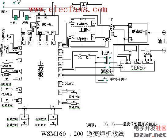 交流电焊机电原理图及电路图 220V 380V焊机图片