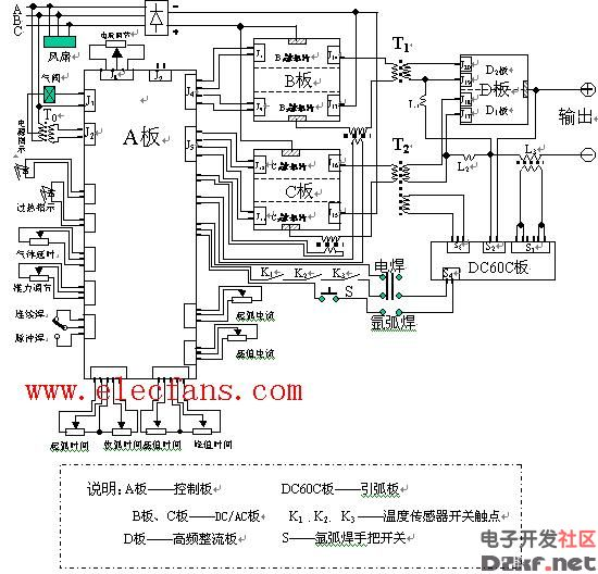 交流电焊机电原理图及电路图 220V 380V焊机