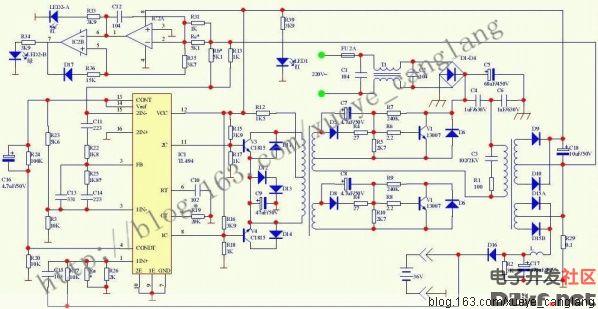 电动自行车充电器多采用开关 电源,型号虽多,但电路结构大同小异,主要图片