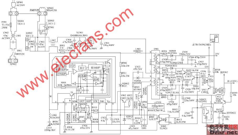 康佳p2591n,p2592n彩电开关电源电路