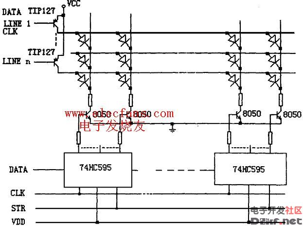 列恒流型驱动电路见图4.
