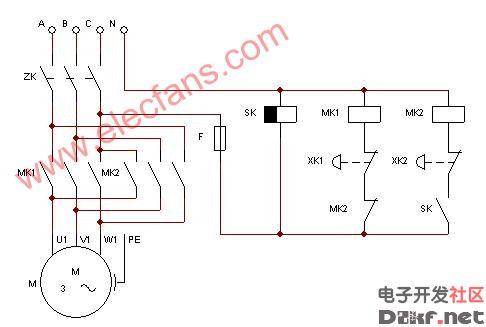定时控制三相电动阀电路图图片