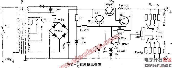 wy-bc直流稳压电源电路