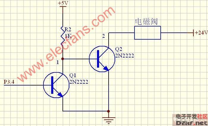 电磁阀驱动电路图(24v)