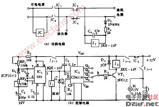 柴油发电机组自动发电控制装置电路图1