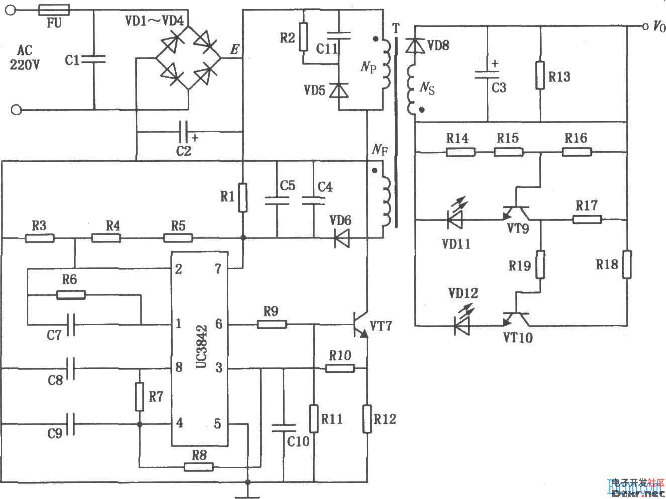 蓄电池充电器电路图