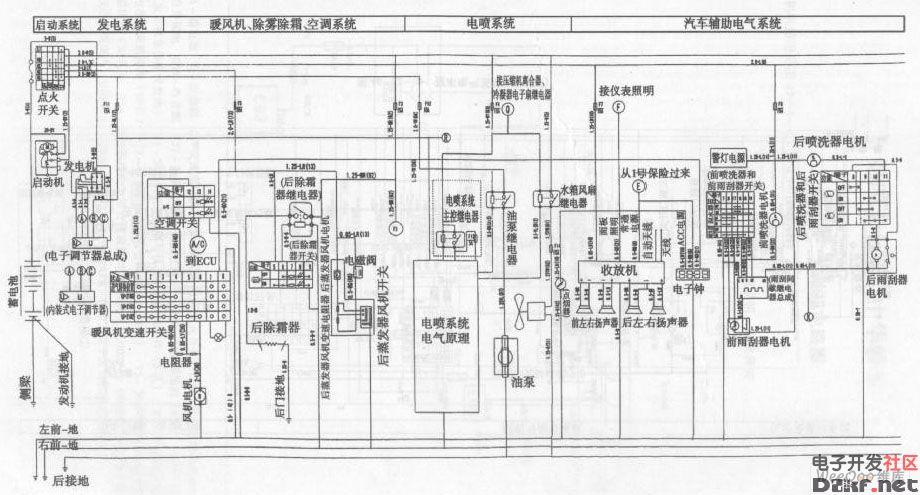 五菱之光汽车整车电气系统电路图
