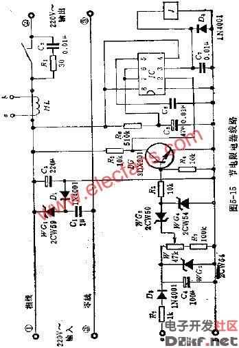 集体宿舍节电限电器电路图