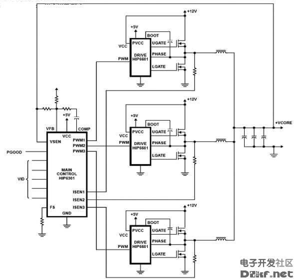 主板三相供电和双相供电图-电路图