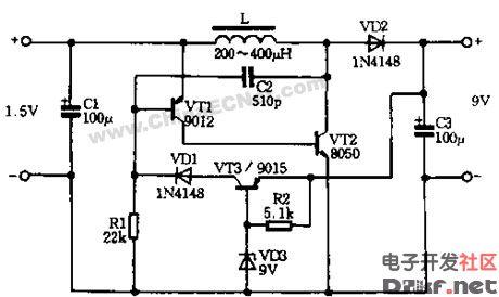 压型直流升压电路