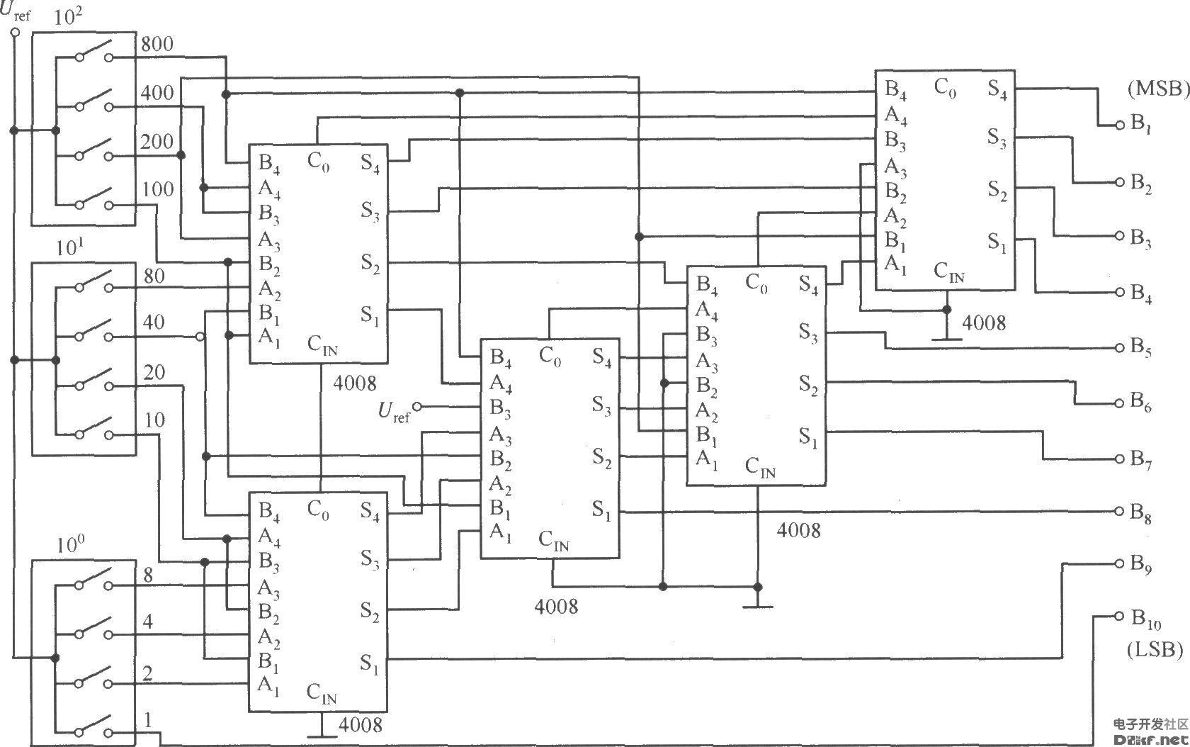 数字设定型标准电源电路(cd4516,μa723c)
