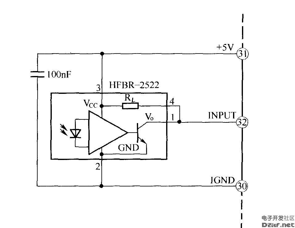 光纤接收器布线图igbt-电路图