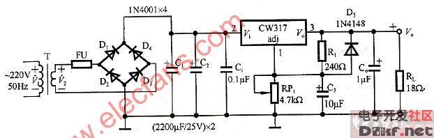 直流稳压电源设计电路