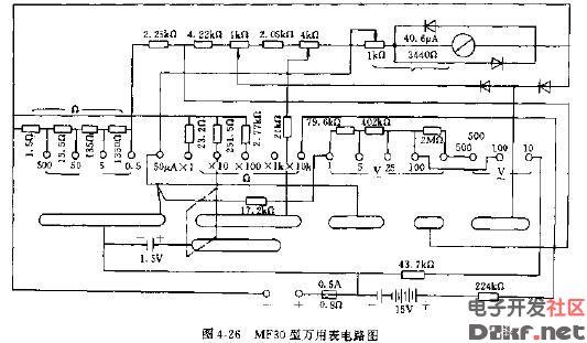 mf30型万用表电路图