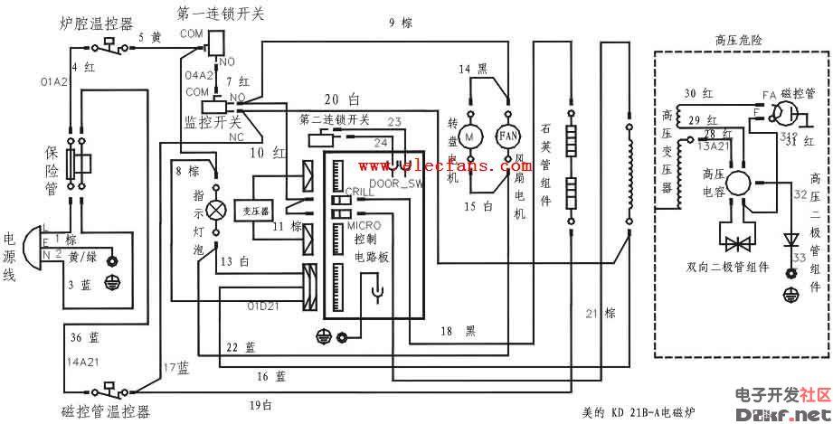 美的电磁炉电路图详解