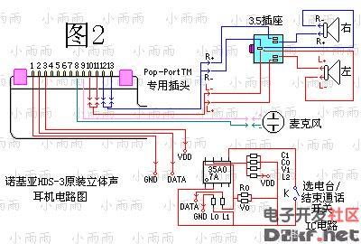 基亚HDS 3立体声耳机原理图图片