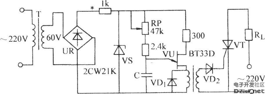 单结晶体管同步触发晶闸管电路图片