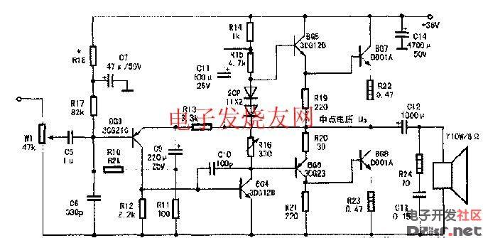 10W单声道OTL电路功放的检修图片