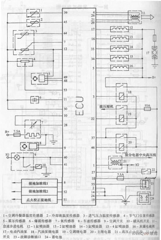 色肉囹�a��(�-c_长安之星多功能车6350c发动机电控系统电路图