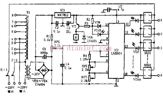 固态继电器作交流稳压器原理电路图