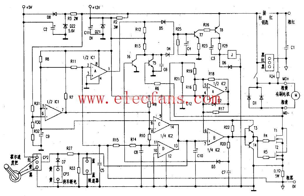 电动车控制器接线电路图