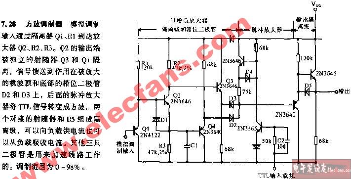 方波调制器电路图